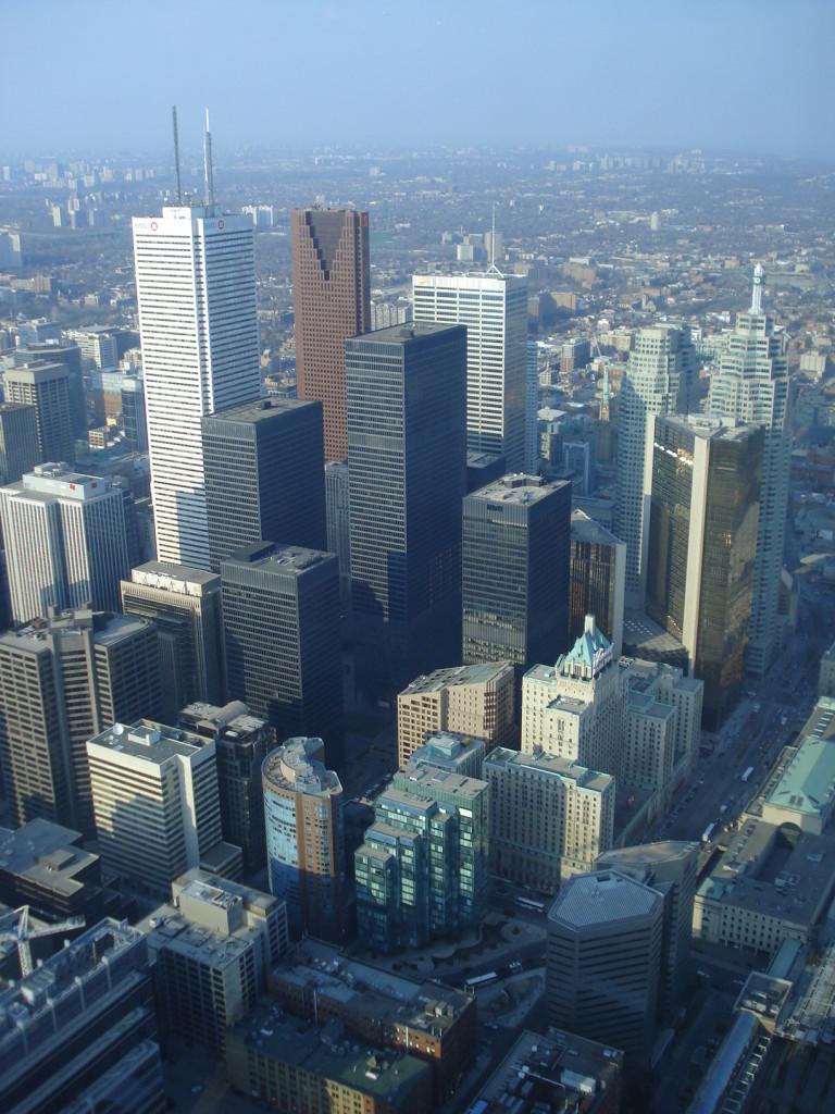 Vista desde lo alto de la CN Tower